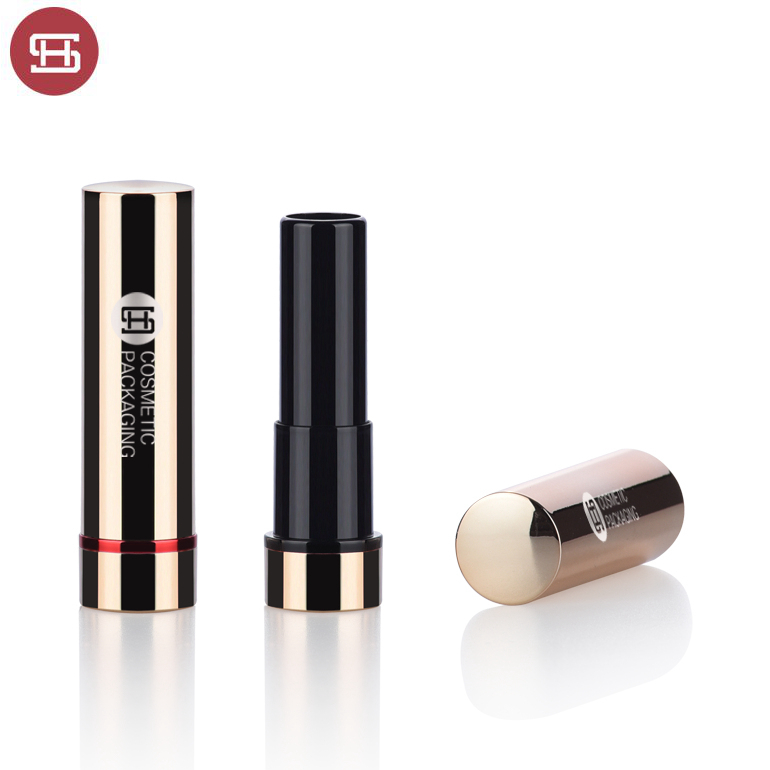 Hot sale wholesale  new product custom cosmetic makeup bullet round metal gold empty lipstick tube container
