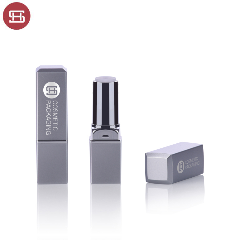 Factory wholesale Make Your Own Lipstick Container - Hot sale wholesale new unique cosmetic black  makeup  plastic square empty lipstick tube container – Huasheng