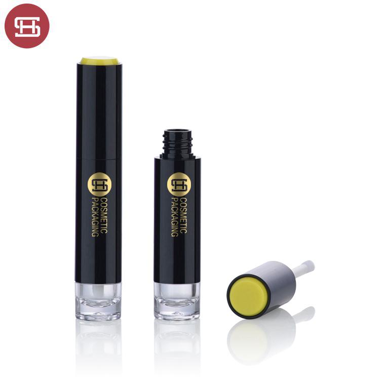 Custom unique round black clear plastic empty lipgloss container  tube