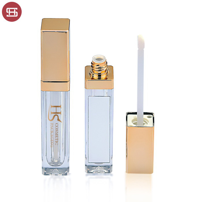 Wholesale hot sale cheap brand clear gold empty lip gloss tube packaging