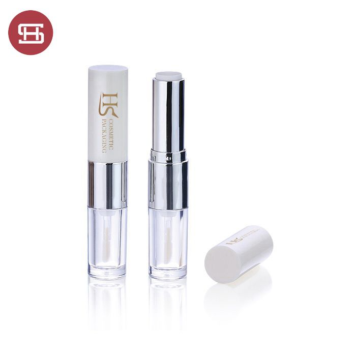#5159 2019 Double end 2 in 1 cosmetic lipstick lip gloss tube