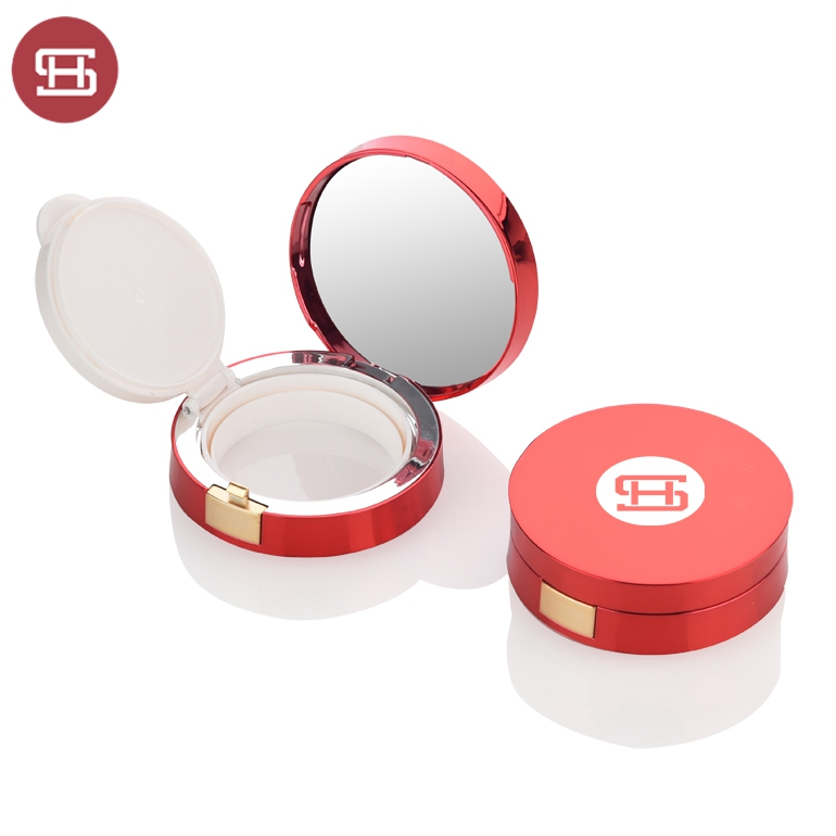 Wholesale empty shiny red air cushion bb cream container
