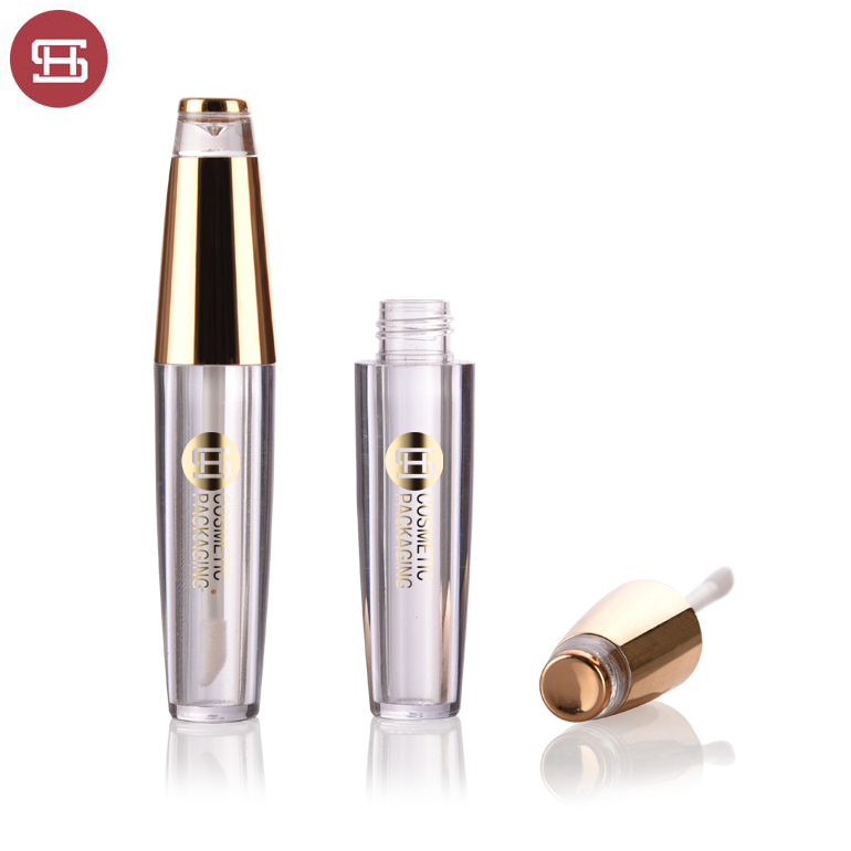 Hot sale Newest design gold plastic empty lipgloss tube containers