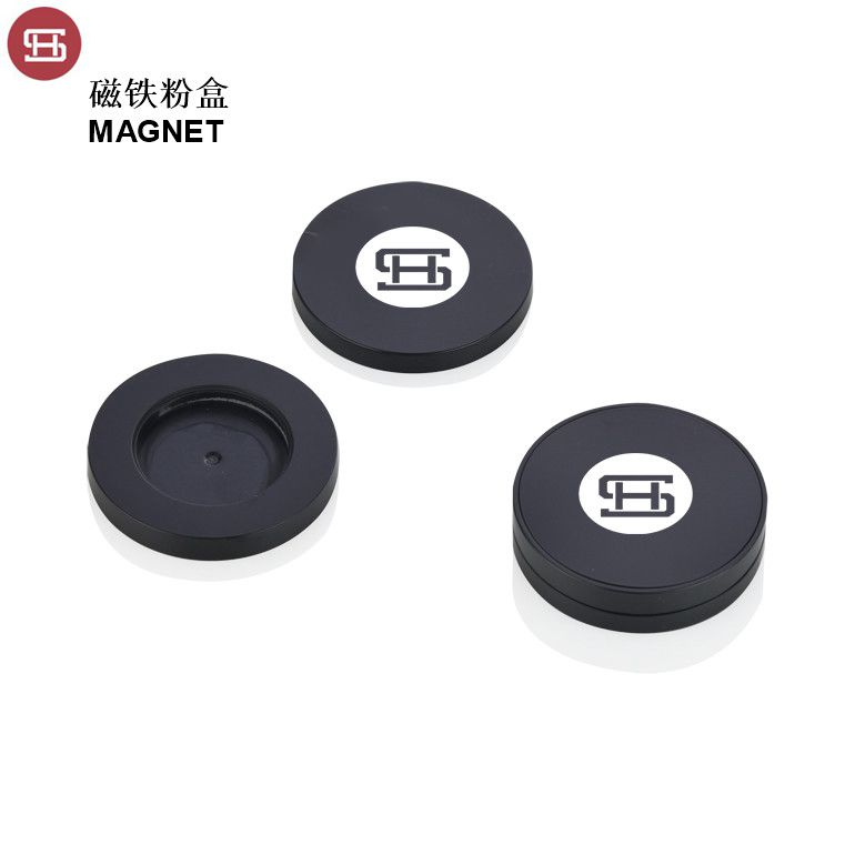 New products empty round custom magnet cosmetic packaging eyeshadow  palette