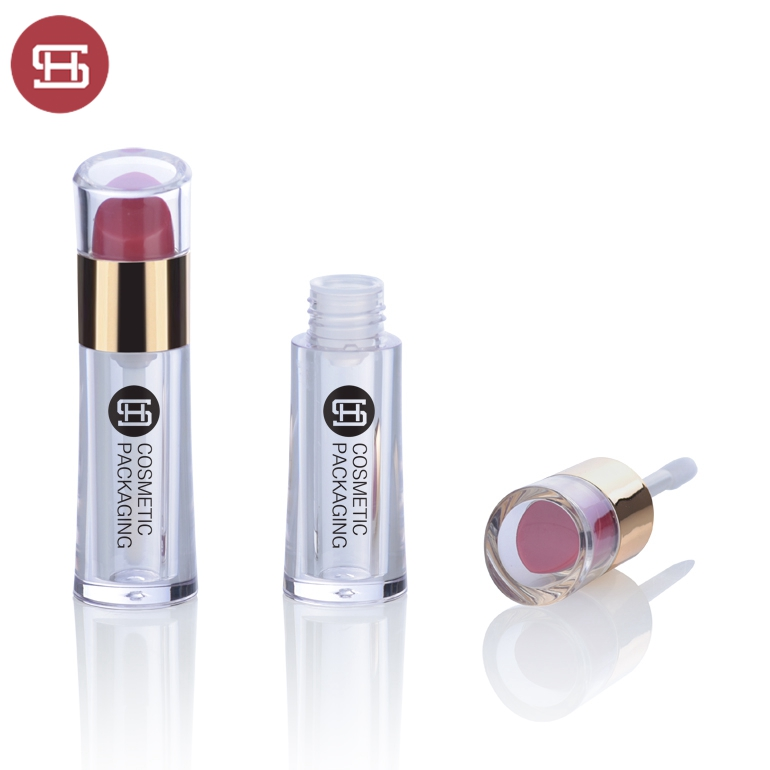 Unique design custom makeup cosmetic empty liquid lipstick lipgloss tube container packaging with brush