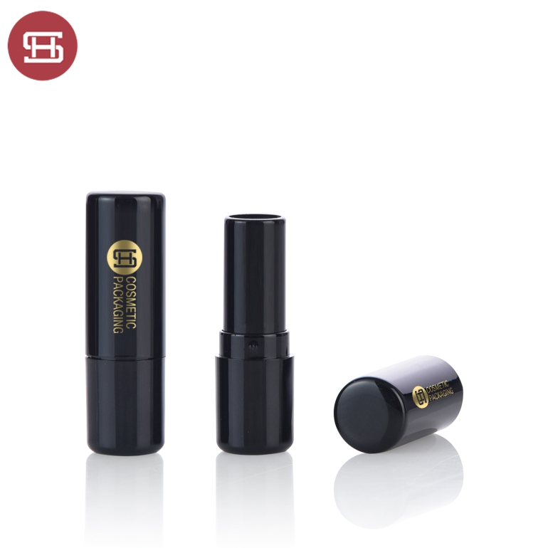 Factory making Silm Lipstick Tube - OEM wholesale hot sale products makeup empty cosmetic unique custom black round lipstick tube container – Huasheng