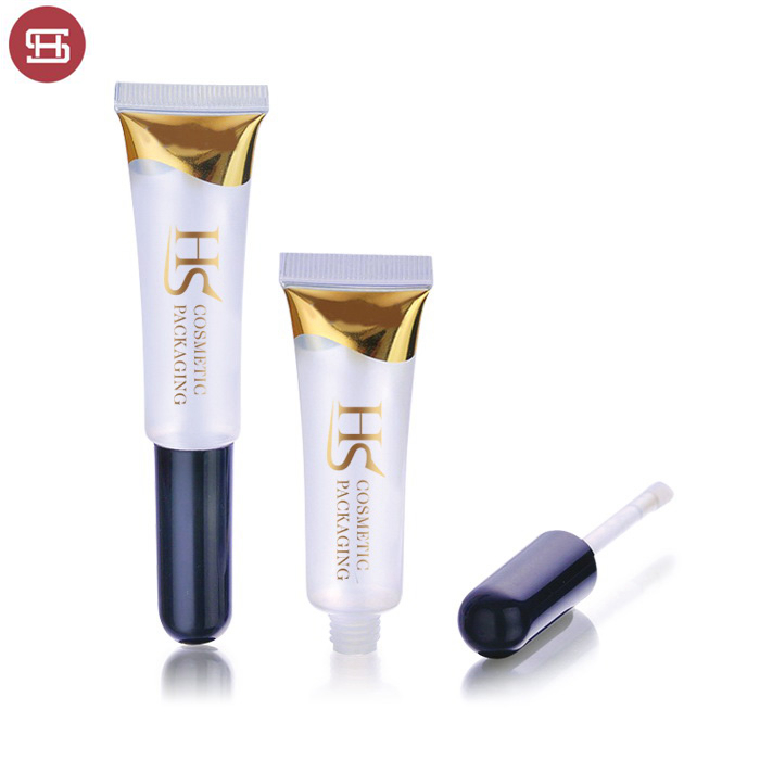 New products  clear empty cosmetic soft plastic tube lipgloss