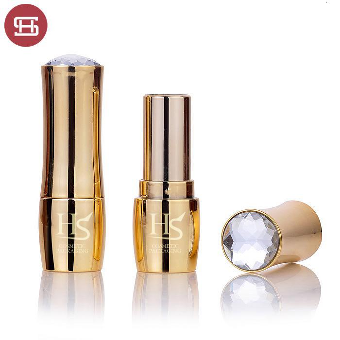 Wholesale hot new sale makeup cismetic luxury gold  unique plastic empty lipstick tube container