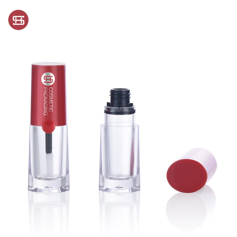 Empty unique mini cute lipgloss tube packaging  lipgloss tube container container with brush