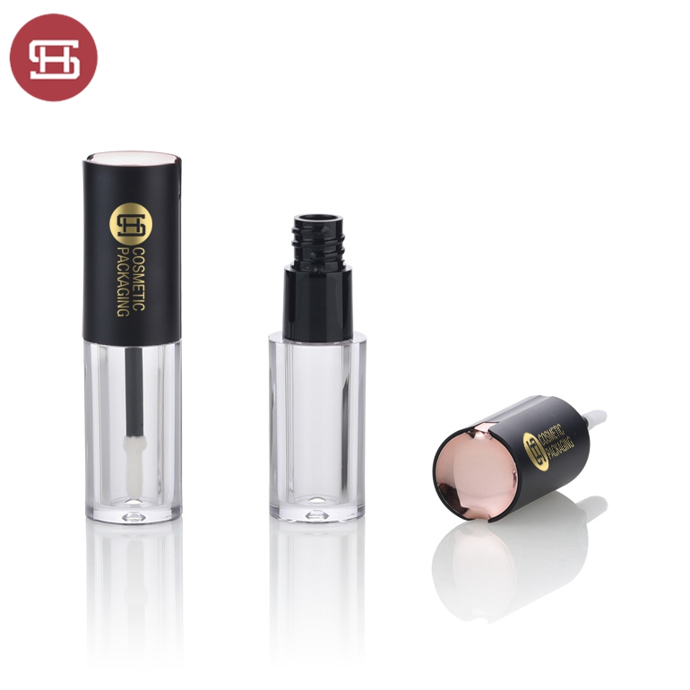 2019  Lipgloss tube containers with brush lipgloss container with skylight