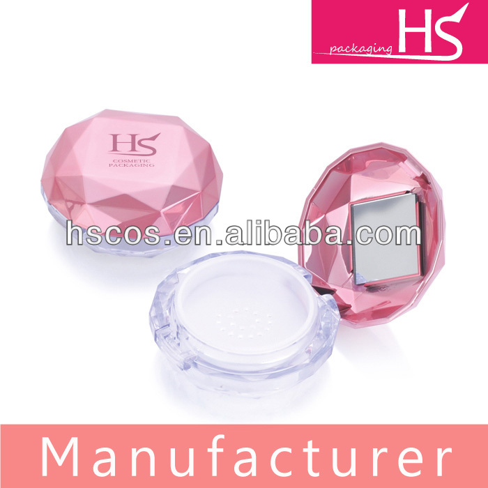 New arrival diamond loose powder jar